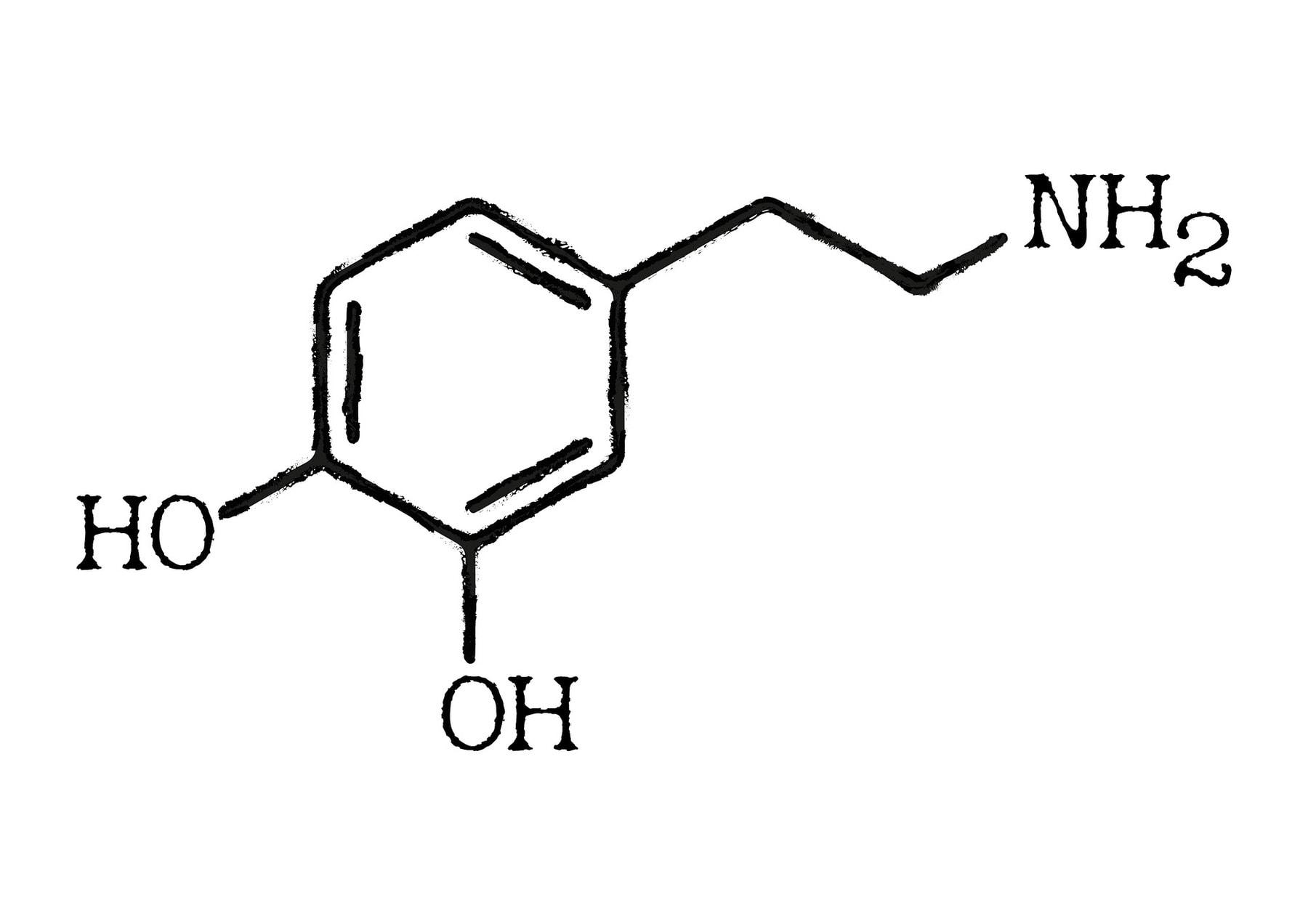 image of dopamine molecule