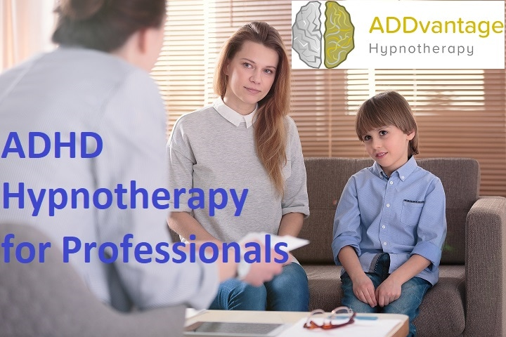 mother and child with hypnotherapist